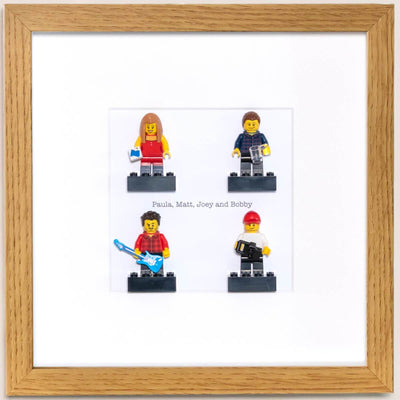 Plastic People - Personalised Mini Brick Figure in Frame
