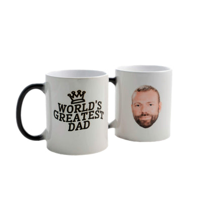 World's Greatest Dad Customized Heat Change MugCrown 1 Heat Mug