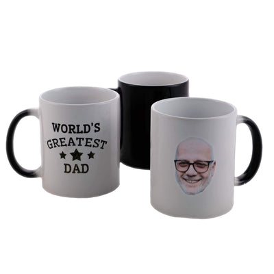 World's Greatest Dad Customized Heat Change MugStar 1 Heat Mug