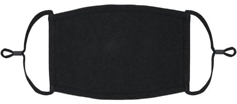 XLARGE ADULT SIZE Black Fabric Face Mask - Washable & Reusable - IN STOCK