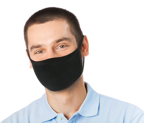 XLARGE ADULT SIZE White Fabric Face Mask - Washable & Reusable - IN STOCK