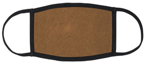 ADULT SIZE - Brown Fabric Mask - Washable & Reusable - IN STOCK