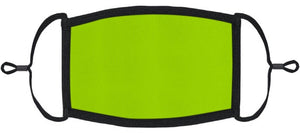 ADULT SIZE - Neon Green Fabric Face Mask - Washable & Reusable - IN STOCK