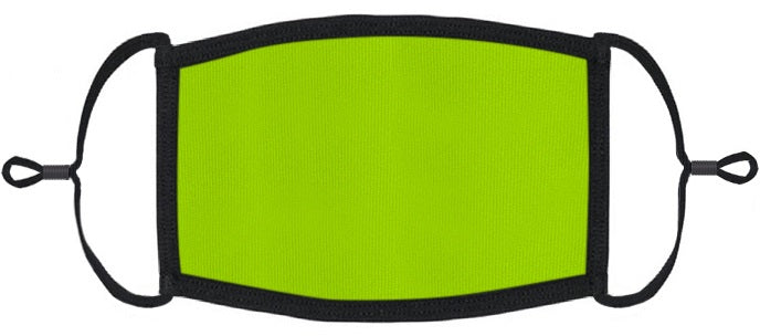 YOUTH SIZE - Neon Green Fabric Mask - Washable & Reusable - IN STOCK