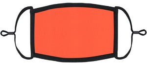 ADULT SIZE - Neon Coral Fabric Face Mask - Washable & Reusable - IN STOCK