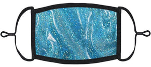 ADULT SIZE - Teal Hologram Fabric Face Mask - Washable & Reusable - IN STOCK