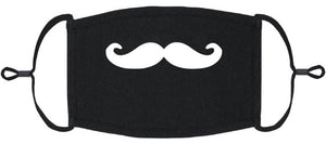 ADULT SIZE - Mustache Fabric Face Mask - Washable & Reusable - IN STOCK