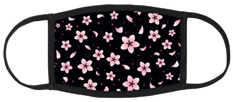ADULT SIZE - Cherry Blossom Fabric Mask - Washable & Reusable - IN STOCK
