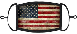 ADULT SIZE - Vintage Flag Fabric Mask - Washable & Reusable - IN STOCK