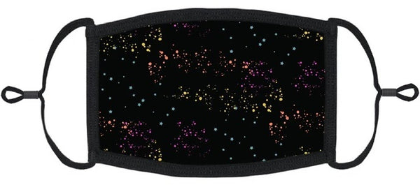 YOUTH SIZE - Rainbow Galaxy Fabric Face Mask - Washable & Reusable - IN STOCK