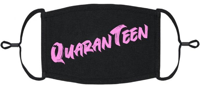 YOUTH SIZE - Pink QuaranTeen Fabric Face Mask - Washable & Reusable - IN STOCK