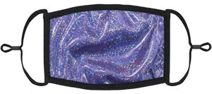 YOUTH SIZE - Dark Purple Hologram Face Mask - Washable & Reusable - IN STOCK