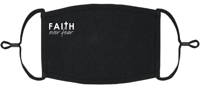 "ADULT SIZE - ""Faith Over Fear"" Fabric Face Mask - Washable & Reusable - IN STOCK"