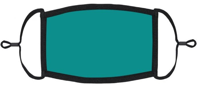 LITTLE KIDS SIZE - Adjustable Ear Loops - Teal Fabric Mask - Washable & Reusable - IN STOCK