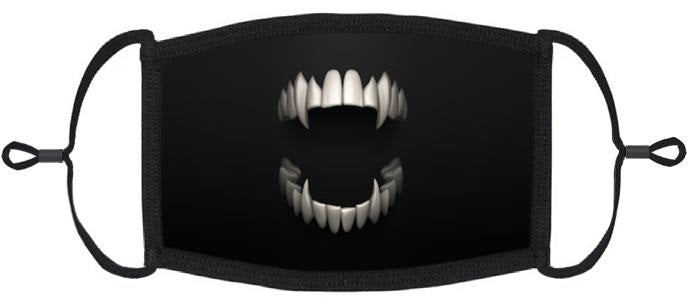 ADULT SIZE - Scary Mouth Fabric Face Mask - Washable & Reusable - IN STOCK