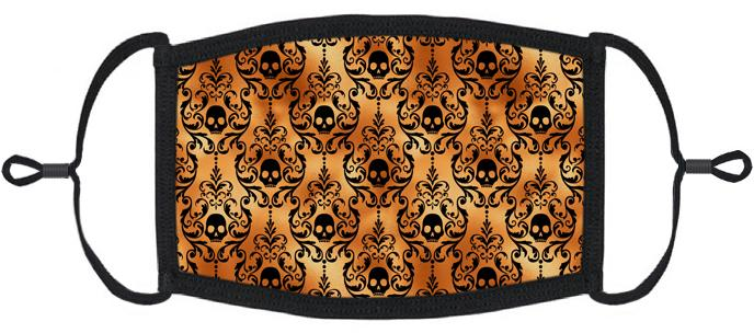 ADULT SIZE - Halloween Skulls Fabric Face Mask - Washable & Reusable - IN STOCK