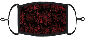 ADULT SIZE - Gothic Roses Fabric Face Mask - Washable & Reusable - IN STOCK