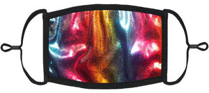 YOUTH SIZE - Adjustable Ear Loops - Rainbow Hologram Face Mask - Washable & Reusable - IN STOCK