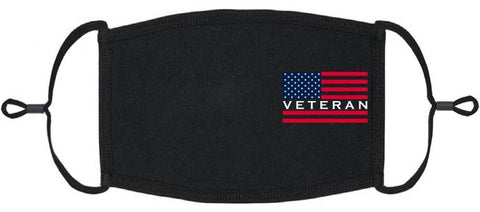 ADULT SIZE - Veteran Fabric Face Mask - Washable & Reusable - IN STOCK
