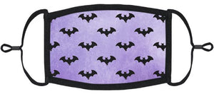 ADULT SIZE - Purple Bats Fabric Face Mask - Washable & Reusable - IN STOCK