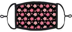 ADULT SIZE - Pink Floral Fabric Face Mask - Washable & Reusable - IN STOCK