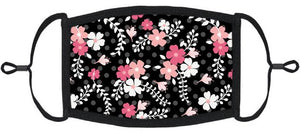 ADULT SIZE - Floral Fabric Face Mask - Washable & Reusable - IN STOCK