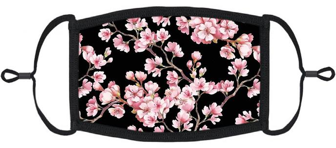 ADULT SIZE - Cherry Blossom Fabric Face Mask - Washable & Reusable - IN STOCK