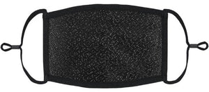 ADULT SIZE - Black Glitter Fabric Face Mask - Washable & Reusable - IN STOCK