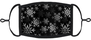 ADULT SIZE - Snowflakes Fabric Face Mask - Washable & Reusable - IN STOCK