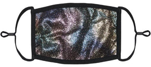 ADULT SIZE - Rainbow Glitter Fabric Face Mask - Washable & Reusable - IN STOCK