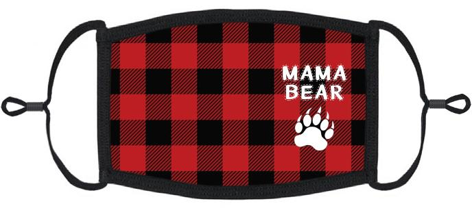 "ADULT SIZE - ""Mama Bear"" Fabric Face Mask - Washable & Reusable - IN STOCK"
