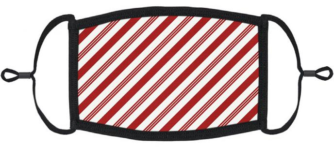 ADULT SIZE - Candy Cane Fabric Face Mask - Washable & Reusable - IN STOCK