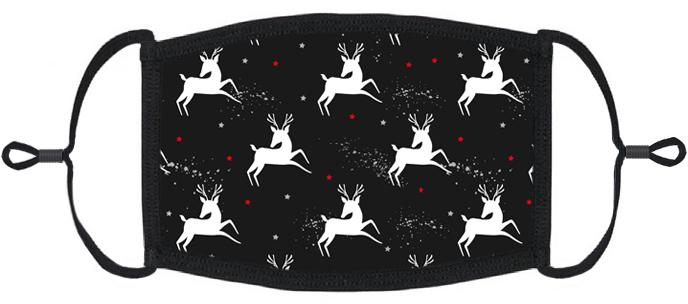 ADULT SIZE - Reindeer Fabric Face Mask - Washable & Reusable - IN STOCK