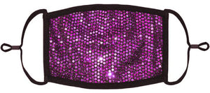 ADULT SIZE - Purple Foil Polka Dot Print Face Mask - Washable & Reusable - IN STOCK