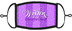 "YOUTH SIZE - ""Winter Wonderland"" Fabric Face Mask - Washable & Reusable - IN STOCK"