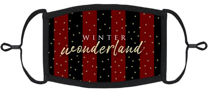 "ADULT SIZE - ""Winter Wonderland"" Fabric Face Mask - Washable & Reusable - IN STOCK"