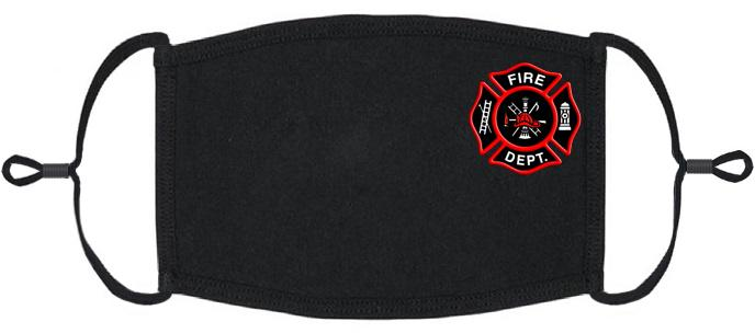 XLARGE ADULT SIZE - Adjustable Ear Loop - Firefighter Fabric Face Mask - Washable & Reusable - IN STOCK