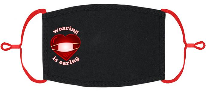 "ADULT SIZE - ""Wearing is Caring"" Fabric Face Mask - Washable & Reusable - IN STOCK"