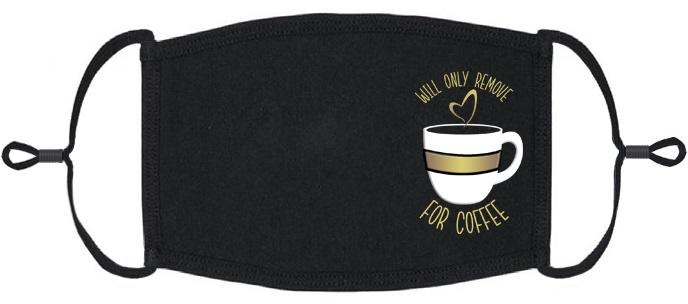"ADULT SIZE - ""Please no talkie before my coffee"" Fabric Face Mask - Washable & Reusable - IN STOCK"