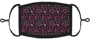 "ADULT SIZE - ""LOVE"" Fabric Face Mask - Washable & Reusable - IN STOCK"