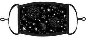 ADULT SIZE - Celestial Fabric Face Mask - Washable & Reusable - IN STOCK