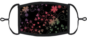 ADULT SIZE - Vibrant Floral Fabric Face Mask - Washable & Reusable - IN STOCK