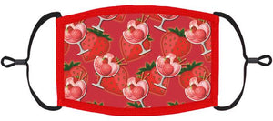 ADULT SIZE - Strawberry Fabric Face Mask - Washable & Reusable - IN STOCK