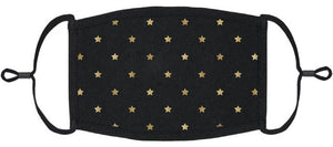 ADULT SIZE - Gold Stars Fabric Face Mask - Washable & Reusable - IN STOCK