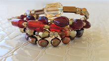 Load image into Gallery viewer, Red Glass and Pearls...Bracelet