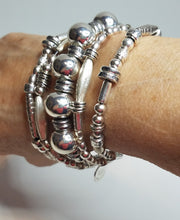 Load image into Gallery viewer, Great Balls of Silver Bracelet