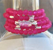 Load image into Gallery viewer, Hot Fuschia Dance Bracelet