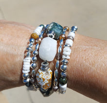 Load image into Gallery viewer, Ocean Jasper Tidal Pool Beaded Bracelet