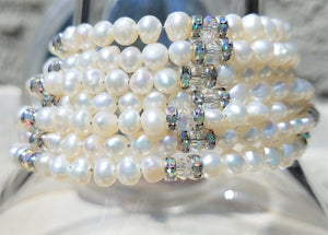 White Wedding Bracelet