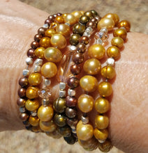 Load image into Gallery viewer, Falling Leaves...Freshwater Pearl Bracelet